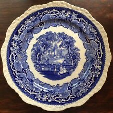 "Mason's Patent Ironstone China Vista England Blue 10 3/4"" Dinner Plates Set Of 4"