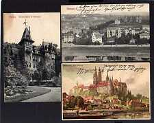 105354 3 AK Meissen R. 1907 Waldschlösschen im Stadtpark Künstlerkarte Kley