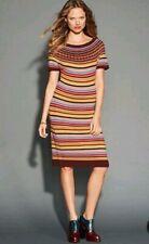 Tommy Hilfiger Fair Isle Short Sleeve Knit Sweater Dress L EUC Alpaca Wool