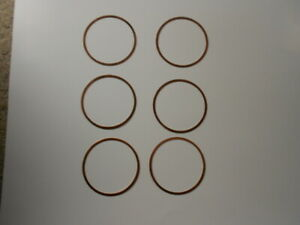 """Set of  65-9 Corvair Copper Cylinder Head Gaskets .052"""""""