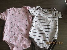 First Moments Size 6-9  Mos girls short sleeve bodysuits - set of 2