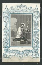 Grabado antiguo de San Luis Gonzaga andachtsbild santino holy card