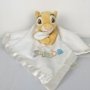 Disney Store Simba The Lion King Cream Baby Comforter Blankie Soft Hug Toy