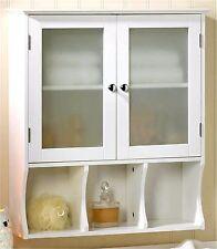 ASPEN BATHROOM WALL CABINET w/ 2 Doors Cabinet & 3 Sectioned Shelf ** NIB