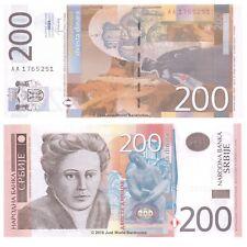 Serbia 200 Dinara 2013 P-58b Banknotes UNC