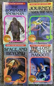 Lot of 4 CHOOSE YOUR OWN ADVENTURE Series 1-4 Montgomery CYOA PB Books 1 2 3 4