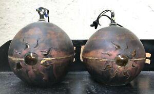 2 x Brutalist Pendant Lamps by NANNY STILL for RAAK (attr.) MID CENTURY MODERN