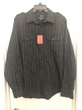 New Murano L ultimate modern comfort slim fit black long sleeve dress shirt