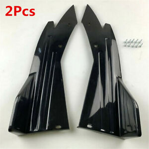Glossy Black Spoiler Lip Wrap Angle Splitter Diffuser Winglet Wings Fit For Car