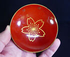 Japanese Red Lacquer Sake Cup! Cherry Blossom (Sakura) WW II Military Discharge