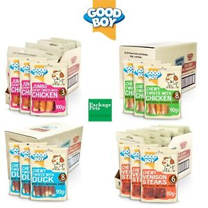 Good Boy Pawsley & Co Meat Tasty Dog Healthy Natural Treats Chews All Flavours