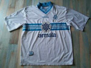 MAILLOT FOOT ADIDAS OM OLYMPIQUE DE MARSEILLE PARMALAT TAILLE XL/D7 BE
