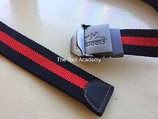 TENG TOOLS BELT GUNMETAL CLASP WITH LOGO RED BLACK BELT - 1350MM CAN BE CUT DOWN