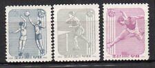 Journées des sports Corée N 1961  3 timbres neufs sans charnière /T4082