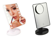16 LED LIGHTS MAKE UP MIRROR COSMETIC TABLE TOUCH CONTROL & 5X MAGNIFICATION