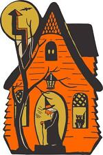 sticker decal car bike bumper halloween spooky kid witch house haunted