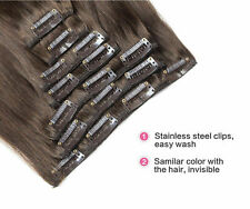 100% Real Thick Clip In Hair Extensions Full Head Hair Extentions Long Human hai