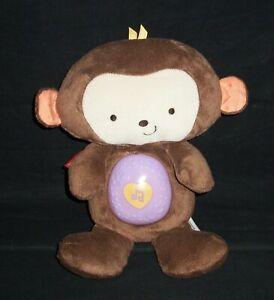 """Fisher Price SnugaMonkey Monkey Musical Light-Up 13"""" Sleep Soother Nature Plush"""
