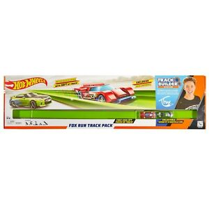 Hot Wheels Tanner Fox Run 30 Feet Track Builder Track Pack Exclusive Green NEW!