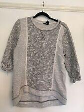 Women's H&M Grey & White Jumper UK Size M