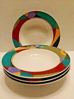 "Studio Nova Impulse 8.25"" Soup Bowls, Set Of Four (4) Salad Dessert"