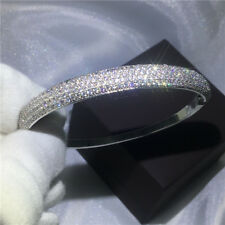 Eternal 925 Silver Filled Bracelet Gift for Lady Wedding Fashion Bangle Jewelry