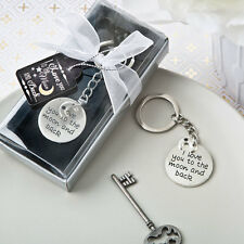 35 I Love You To The Moon And Back Keychain Bridal Shower Wedding Favors