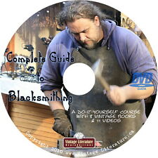 Complete Guide To Blacksmithing Books  { Horseshoes ~ Iron Work } on DVD