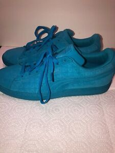 Puma Suede Classic Mono Lace Up  Mens  Sneakers Shoes Casual   - Blue size 8.5