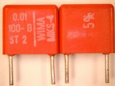 Condensateur 10 nF 100V 5% MKS (PET) WIMA   Pas 7.5 mm  lot de 5