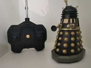 """Dr Who Black Dalek Figure Toy 5"""" BBC Terry Nation 1963 Working Sounds Talk Rare"""