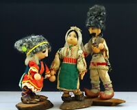 Rare! Three vintage ethnic dolls of the USSR (Soviet) in Ukrainian folk costumes