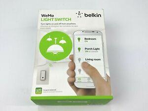 WeMo Wifi Smart Light Switch works with Alexa, Nest, Google Assistant, White NEW