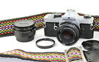 Pentax MX 35mm Classic Film Camera SMC Pentax-M1:1:1.7 F=50mm Lens+ 2x Converter