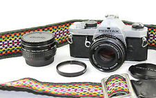 Pentax MX 35mm Classic Film Camera SMC Pentax-M1:1:1.7 F=50mm Lens+ 2x Converter