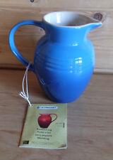 Le Creuset Stoneware Marseille Blue Stoneware Breakfast Jug 14.5cm 0.6L New