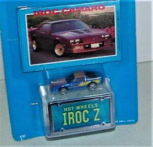 1989 Vintage HOT WHEELS Micro Park N Plates IROC Z Camaro New Sealed Card E.C.
