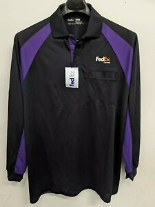 FedEx Express Polo Long Sleeve Designed by Stan Herman Size XL Brand New