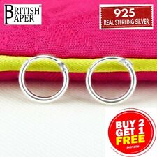 925 Sterling Silver Hoop Earrings 8mm -20mm Small Tiny Hinged Sleeper Pair Girls