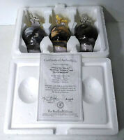 Bradford Editions On Eagles Wings Set of 3 Heirloom Porcelain Ornaments