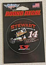 Tony Stewart back in the saddle TSR (Tony Stewart Racing) sticker 5-1/4 X 3-1/2