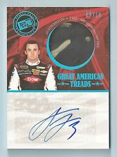 AUSTIN DILLON 2014 PRESS PASS GREAT AMERICAN TREADS TIRE  AUTOGRAPH AUTO /10