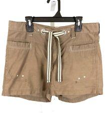 Columbia Size Small Short Shorts Ins 4 Omni-Shade Dark Brown Waist Tie