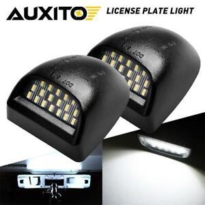 2pcs LED For GMC 1999-2013 Sierra 1500 2500 3500 License Plate Light Bulbs White