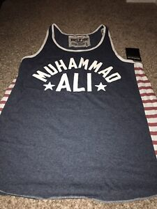 ROOTS OF FIGHT BOXING MUHAMMAD ALI BLUE TANK TOP SHIRT XXXL 3XL