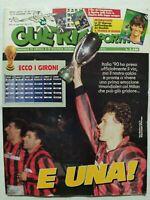 GUERIN SPORTIVO 50-1989 MILAN VINCE SUPERCOPPA EUROPEA GIRONE ITALIA 90 +FILM