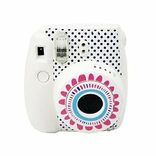 Cute Fujifilm Instax Mini 8 Camera Decoration Body Sticker Decal Sunflower-White
