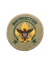 VTG BSA Boy Scout of America Official Licensed Instructor Position Patch Mint