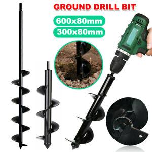 Power Garden Auger Earth Drill Bit Post Digger Planter Outdoor Φ80 x300/600mm