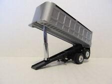 1St Gear 1/64 Scale Dump Trailer, Silver Tub, Black Frame, Dcp Tires & Wheels
